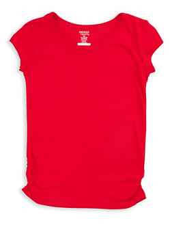 Girls 7-16 French Toast Ruched T Shirt - 7604068320016