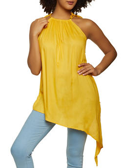 Asymmetrical Tie Shoulder Top - 8306020627599