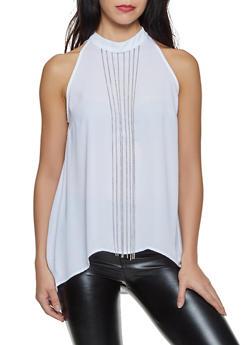 Chain Fringe Sleeveless Blouse - 8306075222064