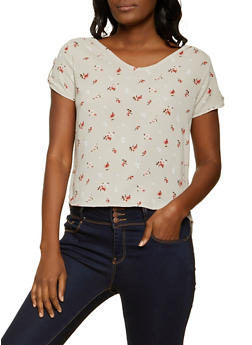 Floral High Low Blouse - 8307069396999