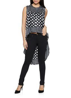 Polka Dot High Low Top - 8307074731139