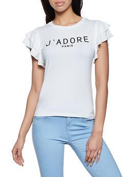 J Adore Paris 3D Graphic Top - 8327064466551