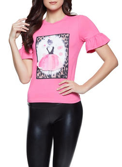 3D Ballerina Patch Tee - 8327064466651