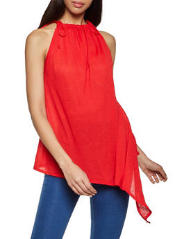 Crepe Asymmetrical Sleeveless Top - 8328020628599