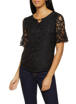 Lace Keyhole Top - 8328062701250