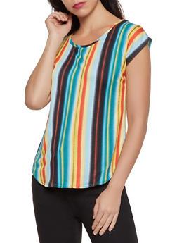 Vertical Stripe Soft Knit Tee - 8329020625807