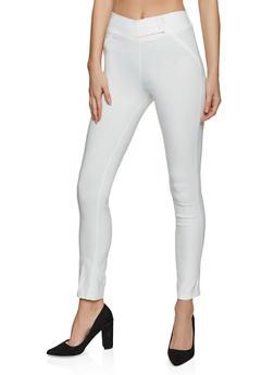 Skinny Tabbed Waist Dress Pants - 8341020623319