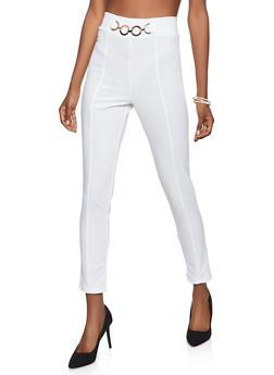 Metallic Loop Detail Dress Pants - 8341020625916