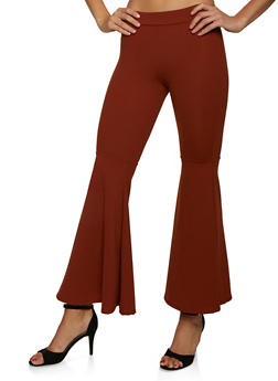 Crepe Knit Flared Pants - 8341020626509
