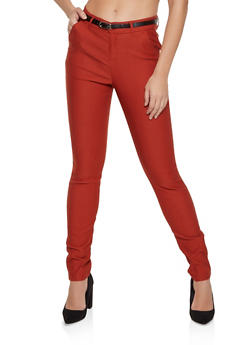 Stretch Belted Dress Pants | 8341056570811 - 8341056570811