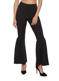 Crepe Flared Dress Pants - 8341056571101