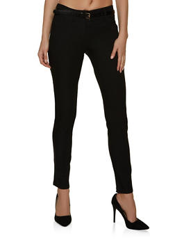 Stretch Belted Dress Pants - 8341062707010