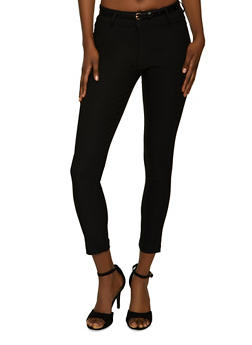 Skinny Belted Dress Pants - 8341062707519
