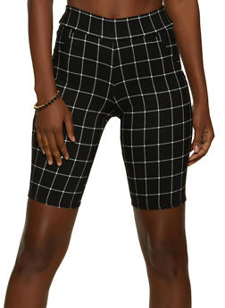 Windowpane Bermuda Shorts - 8342020625129