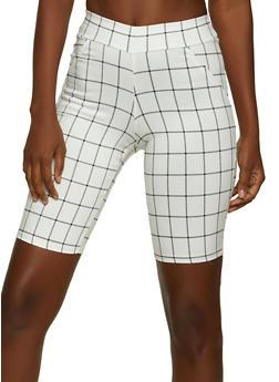 Windowpane Bermuda Shorts - 8342020625129