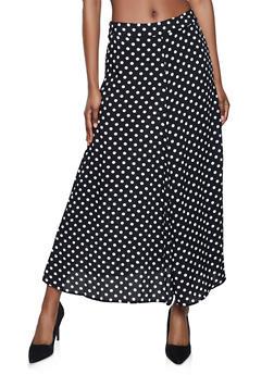 Polka Dot Skater Maxi Skirt - 8344020624763