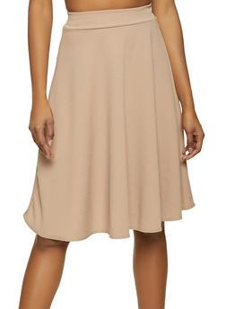 Crepe Knit Skater Skirt - 8344020626335