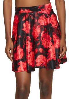 Floral Skater Skirt - 8344020629082