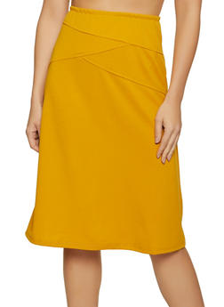 Crepe Knit Midi Skirt - 8344020629137