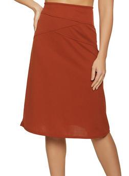 Crepe Knit Midi Skirt - 8344020629137