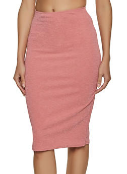 Lurex Midi Skirt - 8344020629443