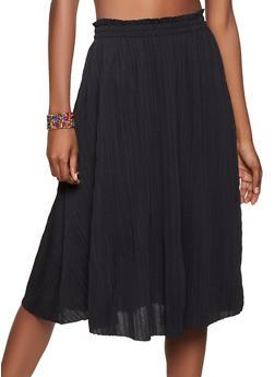 Pleated Skater Skirt - 8344062706758