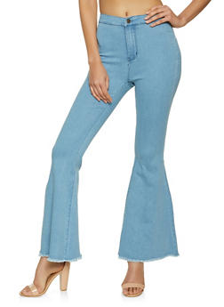High Waisted Flared Jeans - 8348064720068