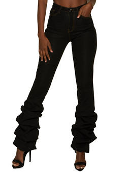 Ruched Jeans - 8348064720225