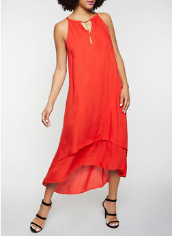 Sleeveless Tiered Midi Dress - 8375063509218