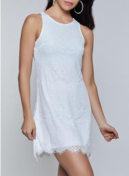 Sleeveless Lace Dress - 8375064460608