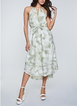 Cloud Tie Dye High Low Dress - 8376056120207