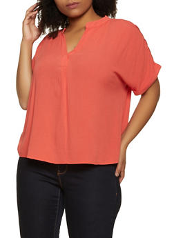 Plus Size Fixed Cuff Top - 8406074733196