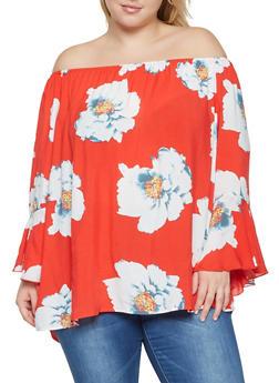 Off the Shoulder Floral Top - 8407056124693