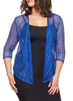 Plus Size Lace Cardigan - 8424062701589