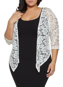 Plus Size Lace Cardigan - 8424062703147