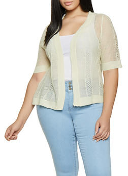 Plus Size Knit Cardigan - 8424074051299
