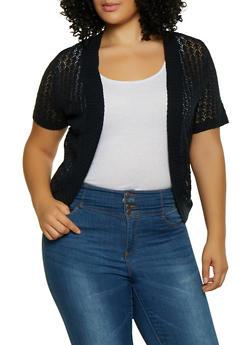 Plus Size Knit Shrug - 8424074051593