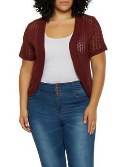 Plus Size Knit Shrug - 8424074051593