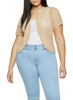 Plus Size Knit Cardigan - 8424074053281