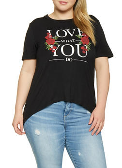 Plus Size Love What You Do Tee - 8427054262214