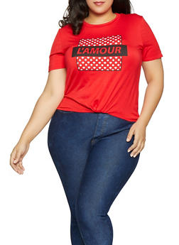 Plus Size LAmour Graphic Tee - 8427054262311