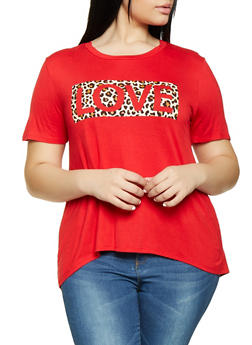Plus Size Love Graphic Tee - 8427054266611