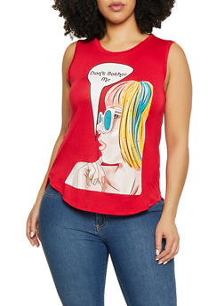 Plus Size Dont Bother Me Graphic Tank Top - 8427062702595
