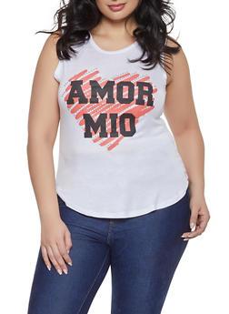 Plus Size Amor Mio Tank Top - 8427062702616
