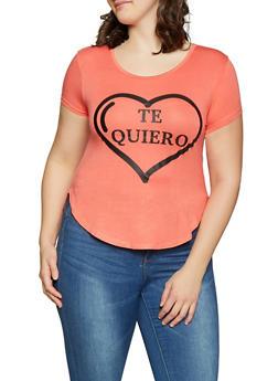 Plus Size Te Quiero Graphic Tee - 8427062702620
