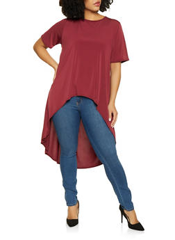 Plus Size High Low Top - 8428020628752