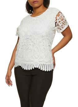 Plus Size Crochet Top - 8428064463105