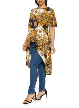 Plus Size Status Print High Low Top - 8429020628825