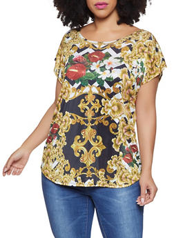 Plus Size Printed Top - 8429058753780
