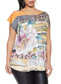 Plus Size Printed Top - 8429058755180